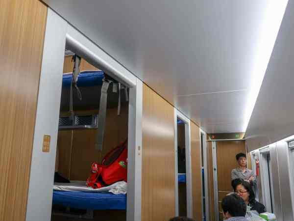 third class overnight train carriage on china train