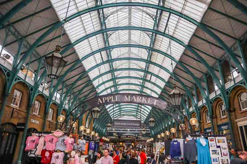 Apple Market Stalls inside Covent Garden Market | covent garden london guide