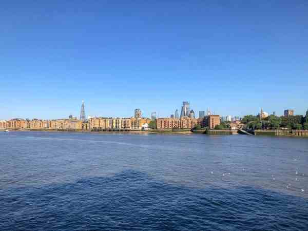 YHA Thameside River Thames and City View with Blue Sky