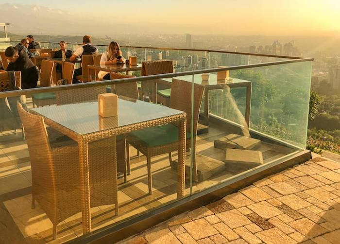 rooftop bar in Almaty Kazakstan at sunset weather | best places to travel in Asia in July and August