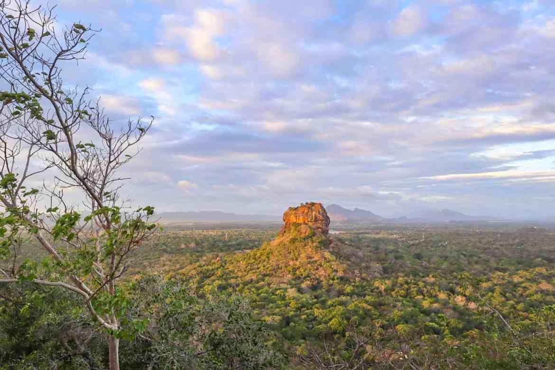 places to visit in Sri Lanka on first trip, Sigiriya Rock from Pidurangala Rock