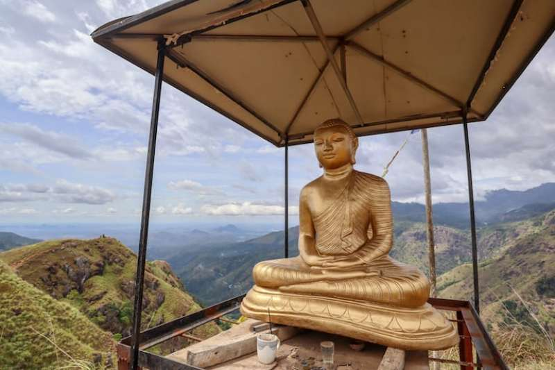 Buddha at the top of Little Adams Peak