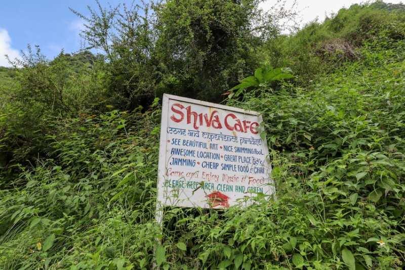 Shiva Cafe Bhagsu Falls Sign | things to do in Bhagsu