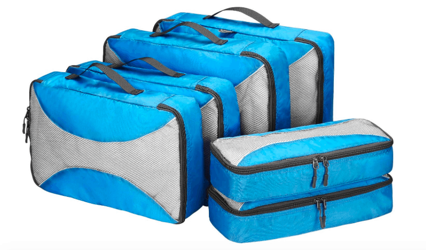 female packing list India, blue packing cubes
