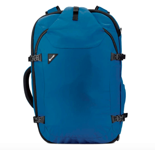 female packing list India, pacsafe venture blue carry on backpack