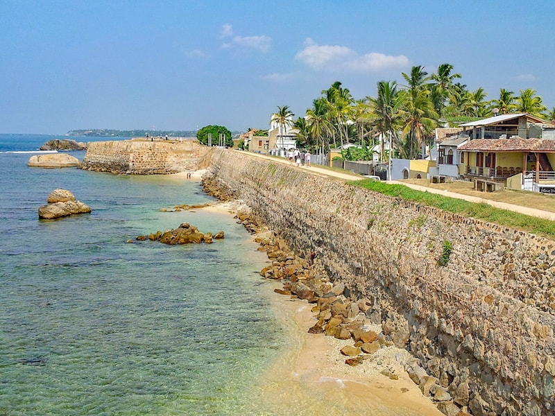 Galle City Wall and Ocean | best places to visit in Sri Lanka