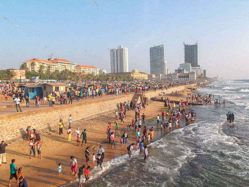 Colombo beach and city in background | best places to visit in Sri Lanka