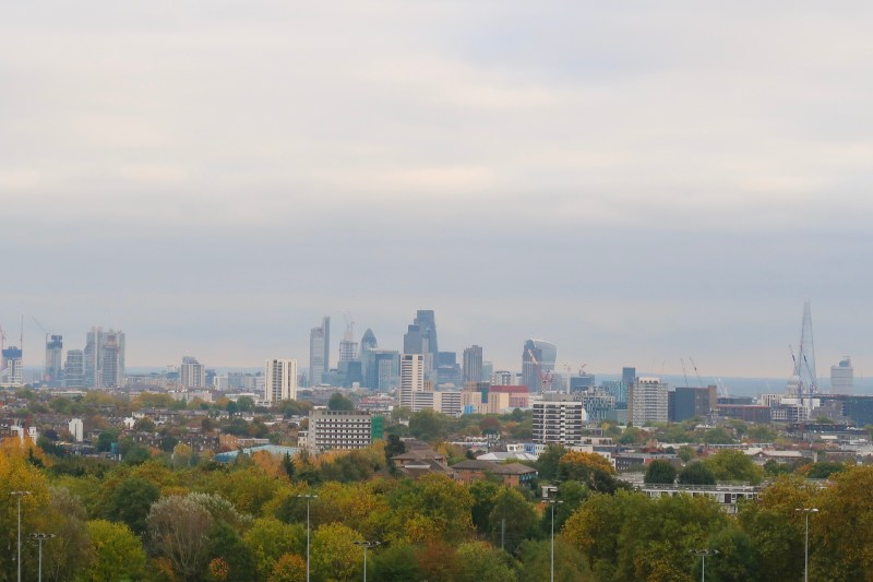 view of london skyline from hampstead heath park | things to do in london in winter