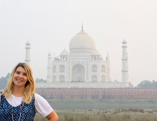 ellie quinn and taj mahal | best places to visit in india