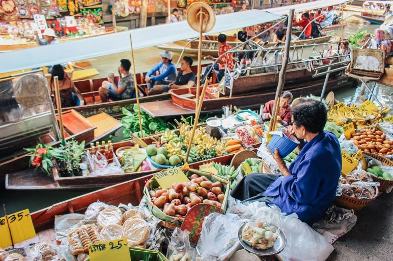Bangkok Market | best places to travel in Asia December and January