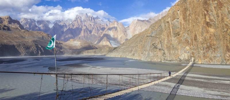 Hussaini Suspension bridge   2 week pakistan group tour