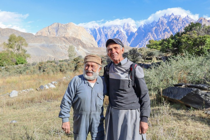 Khan Bhag and friend in Hunza mountains