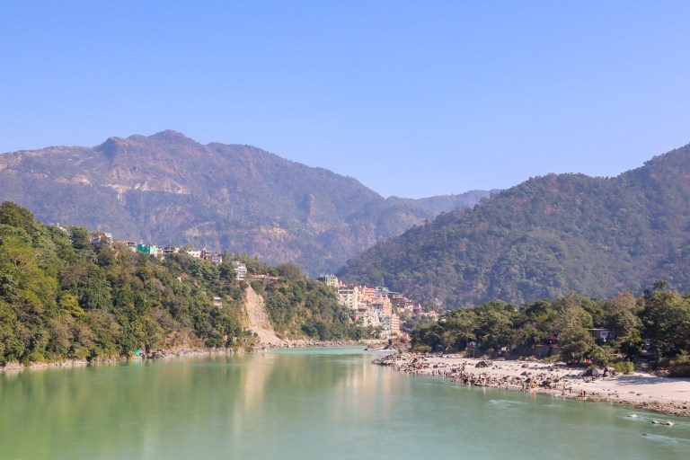 Rishkiesh River Ganges and mountains | best places to visit in India