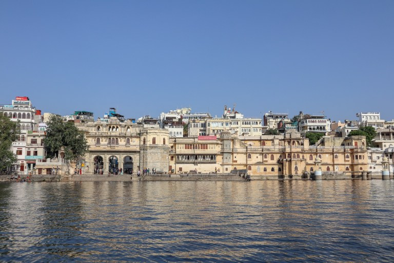 Udaipur city from river boat trip | best places to visit in India