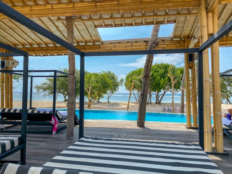 swimming pool and subbed at Gili T Hotel   things to do in Gili T