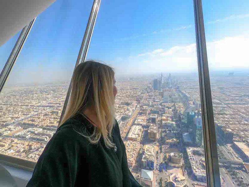 things to do in Riyadh, Skybridge Kingdom Tower Riyadh View