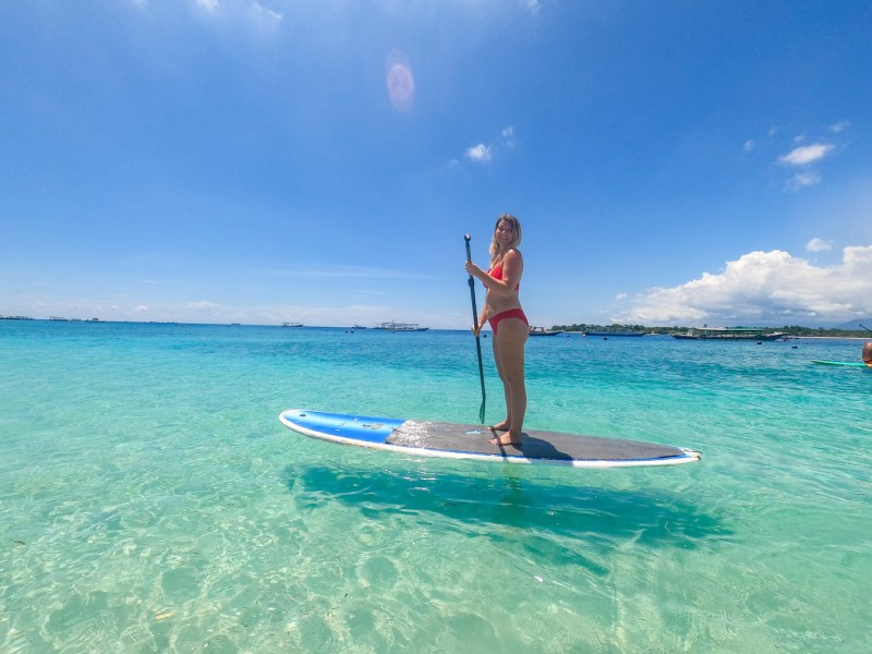 Gili Islands, ellie quinn Stand Up Paddle Boarding on Gili T