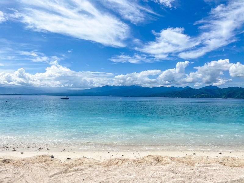 Gili Islands, Gili Trawangan Beach and blue water