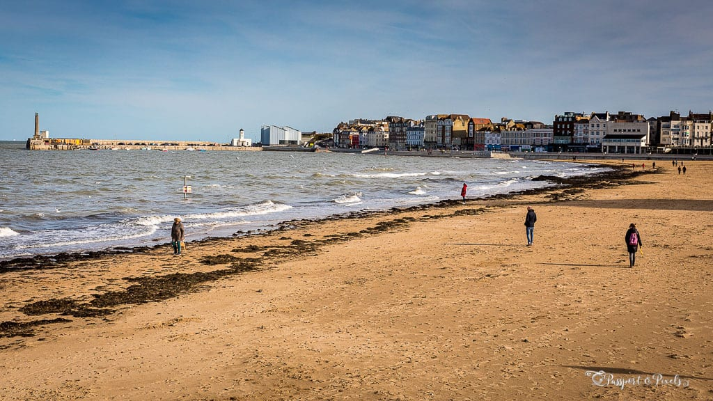 Margate beach and sea blue sky | Margate day trip from London by train