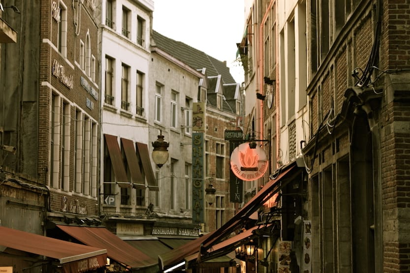 Brussels small old street of buildings | Brussels Day trip from London by train