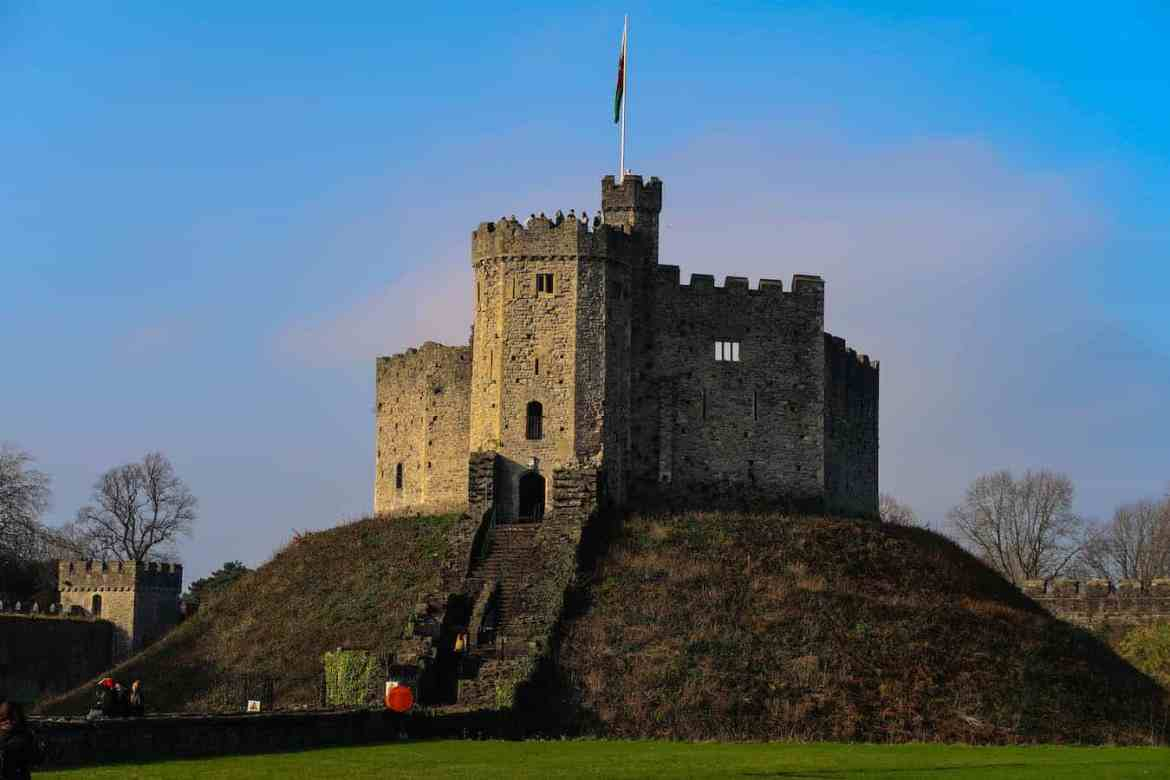 Cardiff Castle blue sky | Cardiff Day Trip From London by Train