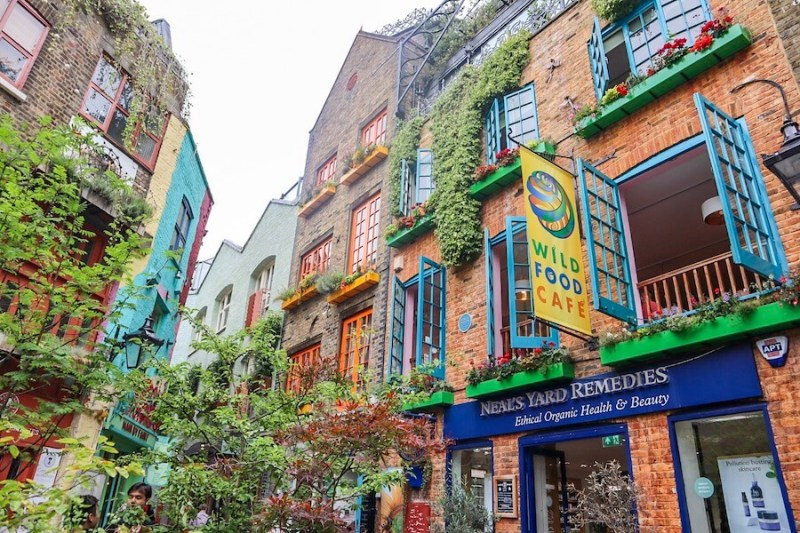 4 day london itinerary, Neals Yard Covent Garden