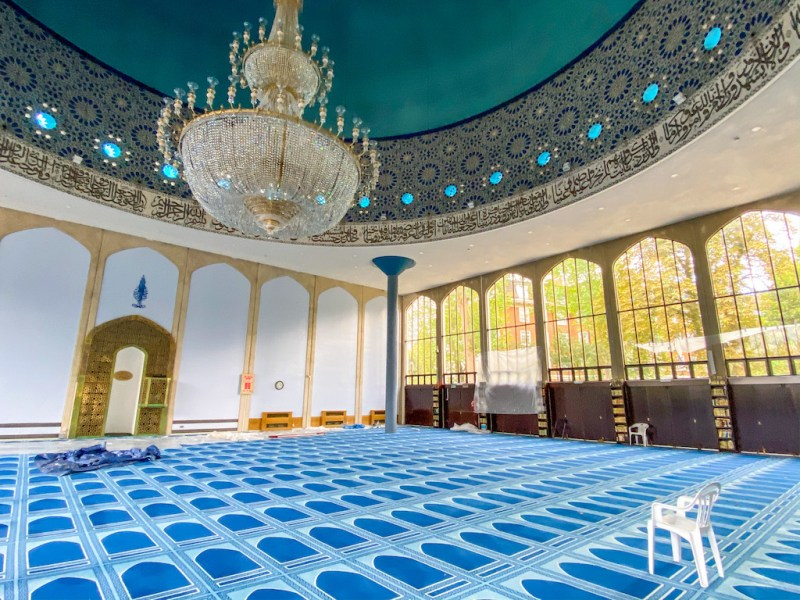 arab areas in London. london central mosque