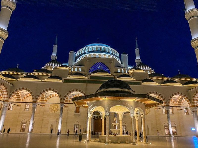 Camlica Mosque, at night