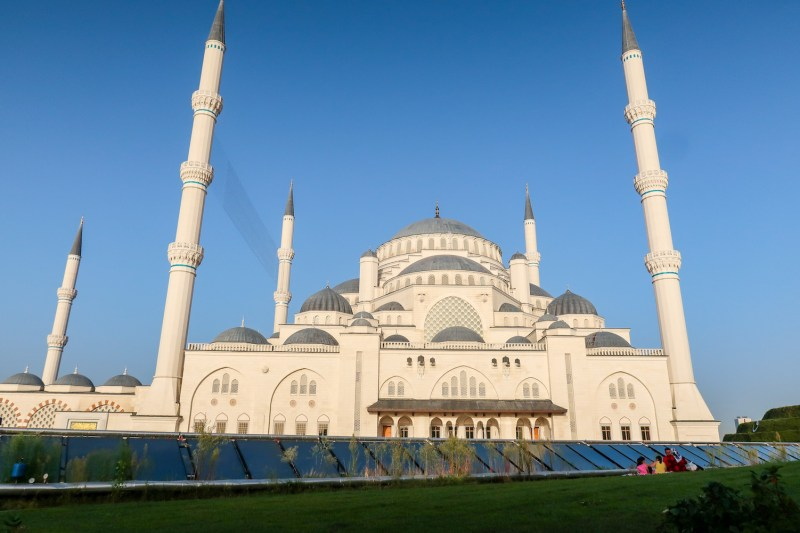Camlica Mosque, outside from front