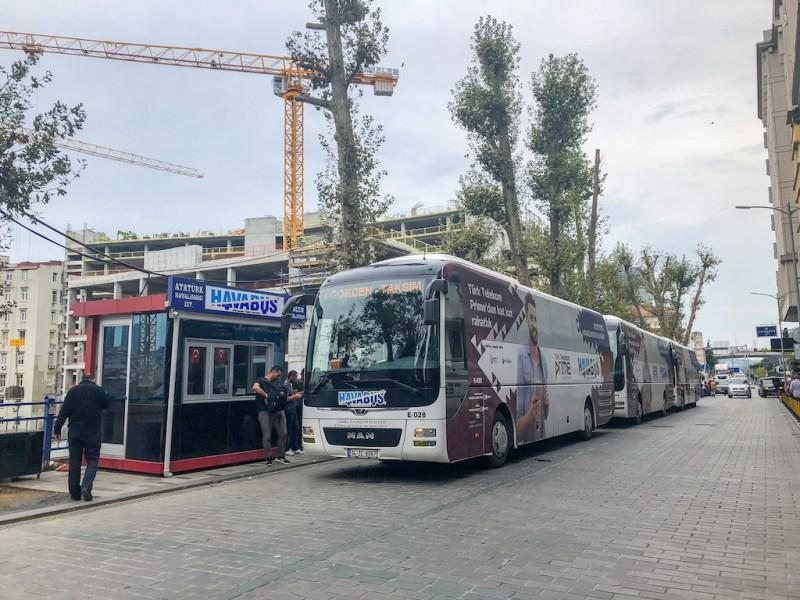 Sabiha Airport to Taksim, Havabus,