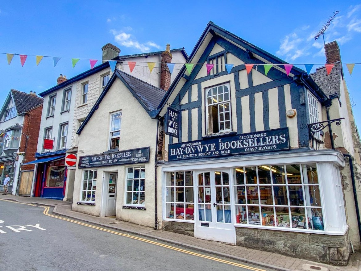 Staycation in Wales, Hay on Wye book shop