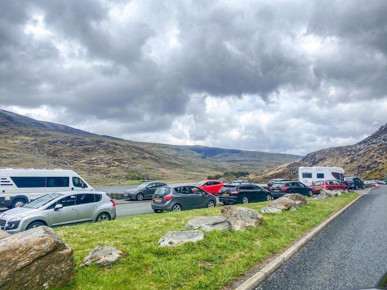 car park Tryfan mountain