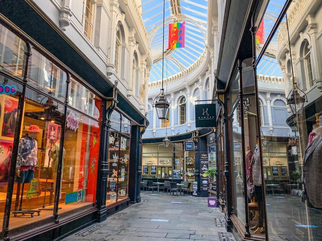 One Day in Cardiff, Royal Arcade Inside
