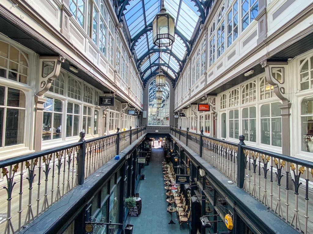 3 days in Wales, Cardiff Shopping Arcade