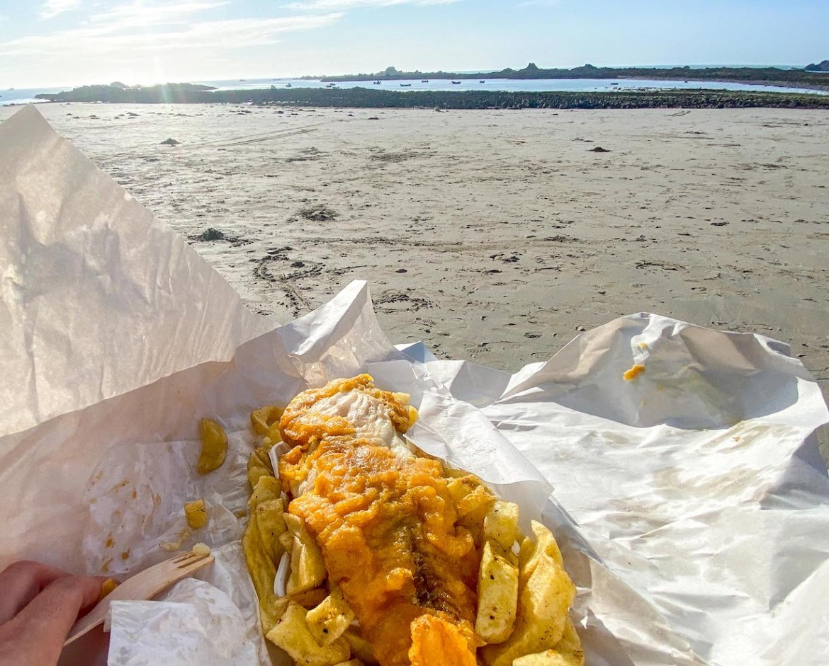 Guernsey itinerary, Cobo Fish & Chips