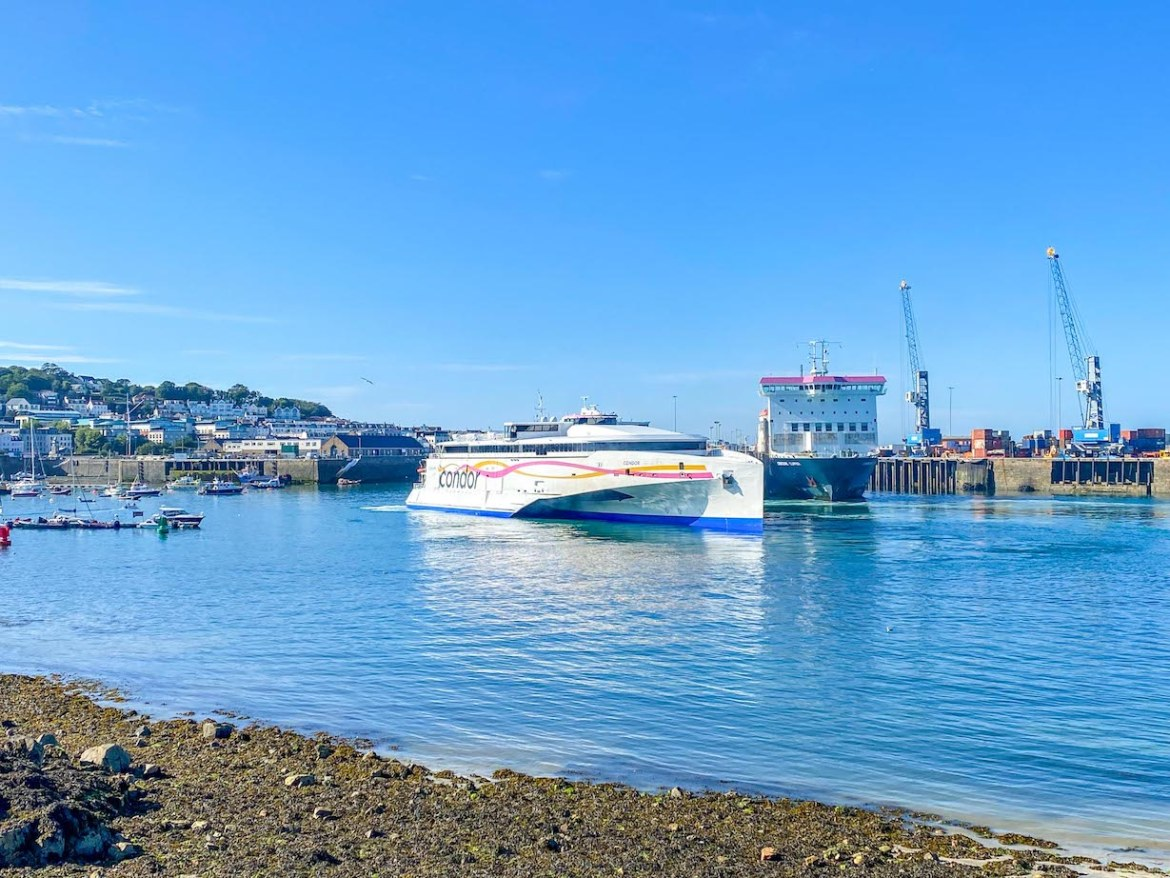 Guernsey itinerary, Condor Ferries to Guernsey