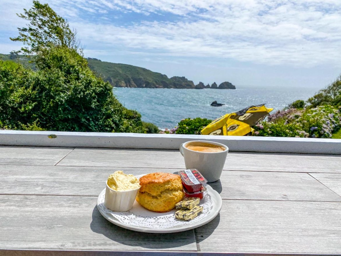 Things to do on Guernsey, Moulin Huet Tearoom Scones