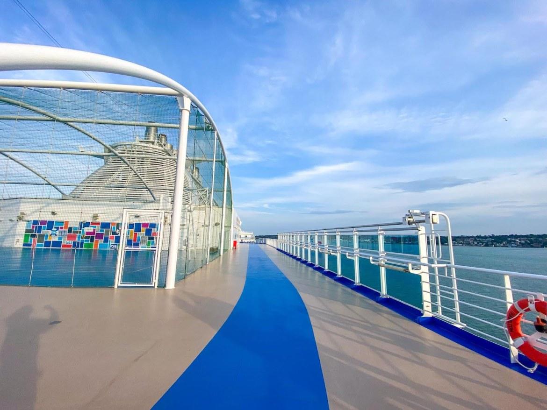 Princess Cruises from Southampton, Sky Princess jogging track