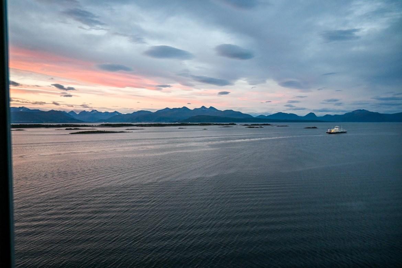 Norway road trip, sunrise from Scandic Seilet Hotel