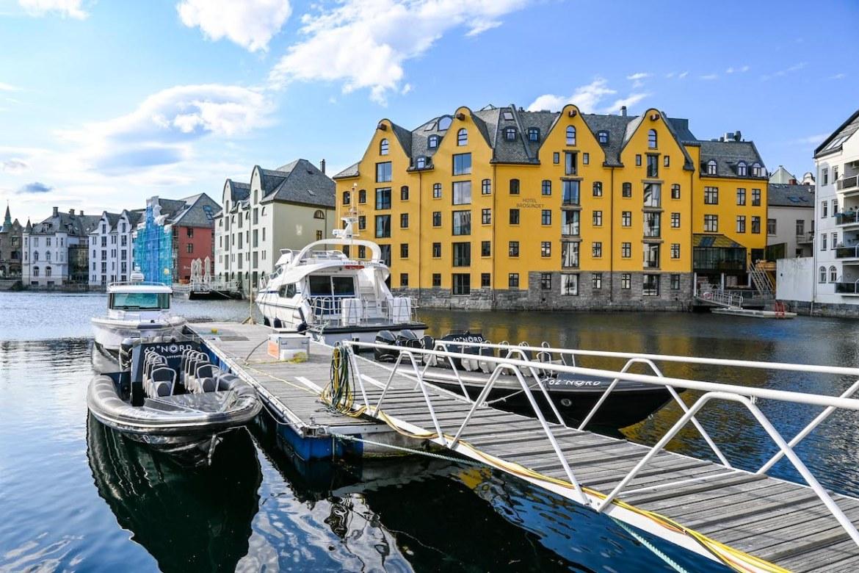 Norway road trip, Alesund Art Nouveau buildings