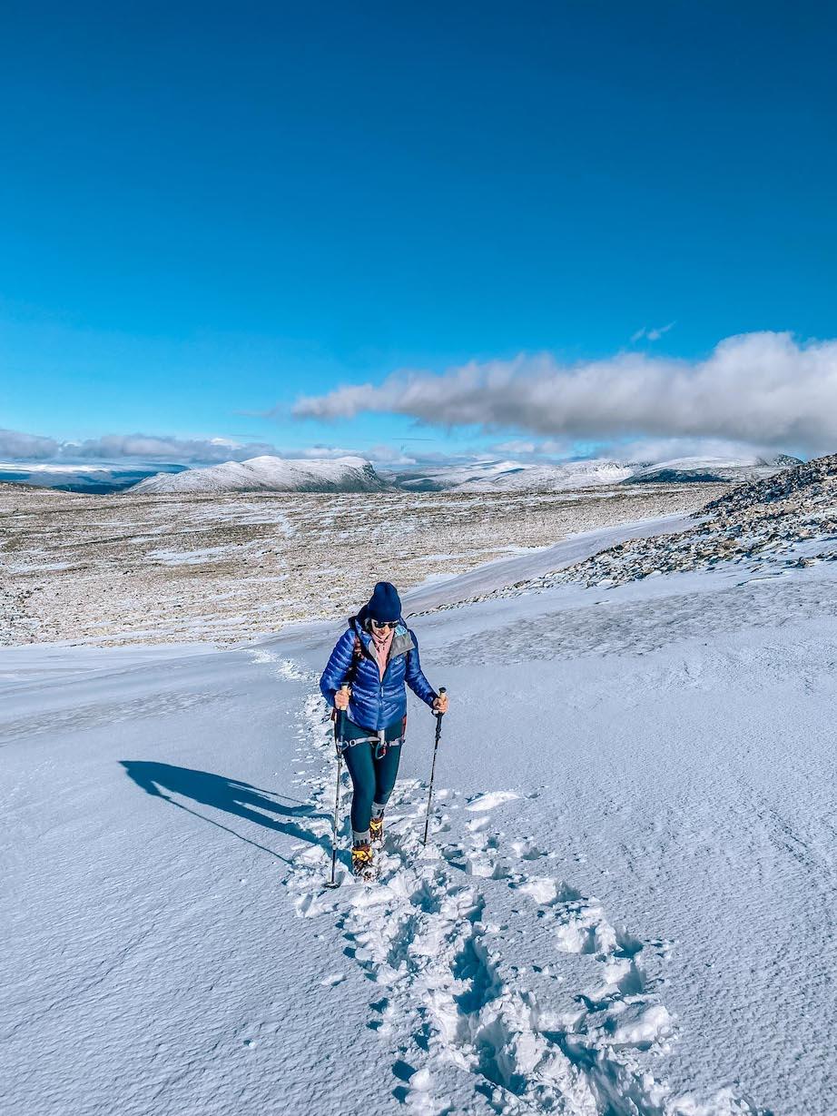 Norway road trip, Ellie Quinn hiking Galdhøpiggen