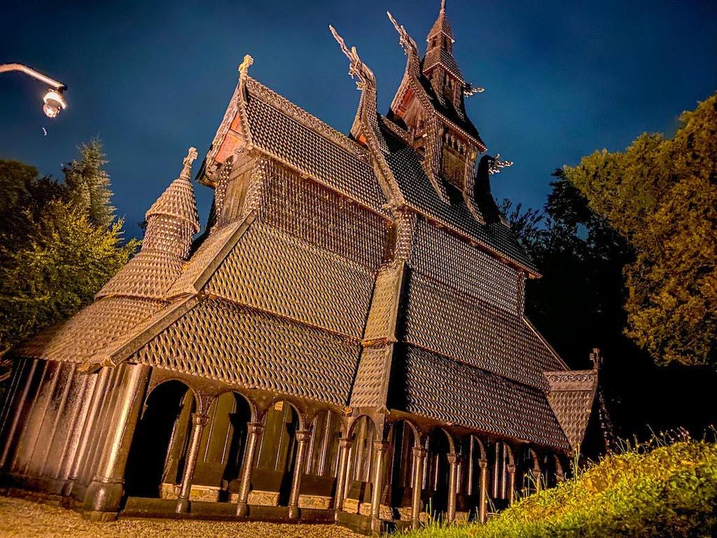 Bergen to Alesund, Fantoft Stave Church