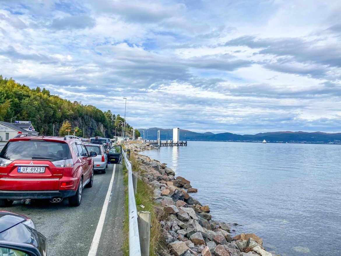 Norway road trip, Ferry from Vestnes to Molde
