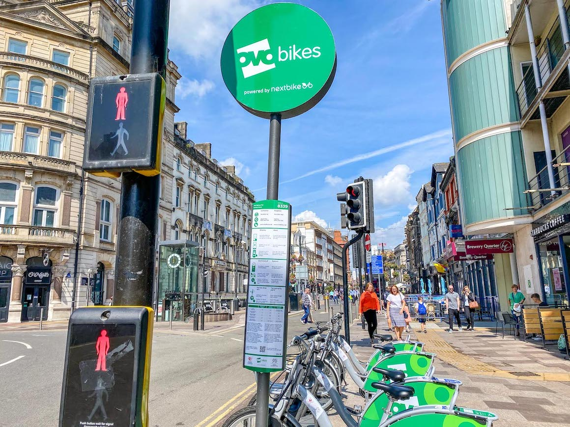 things to do in Cardiff, hiring an oyo bike to get around