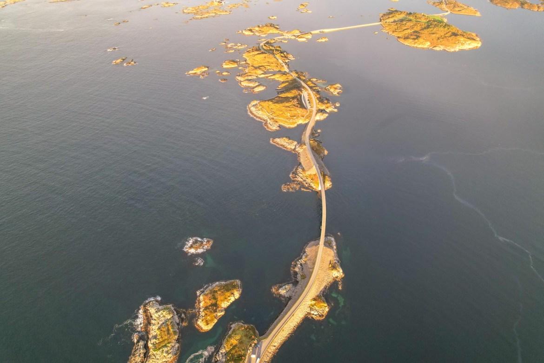 Atlantic Ocean Road Norway, Drone Photo