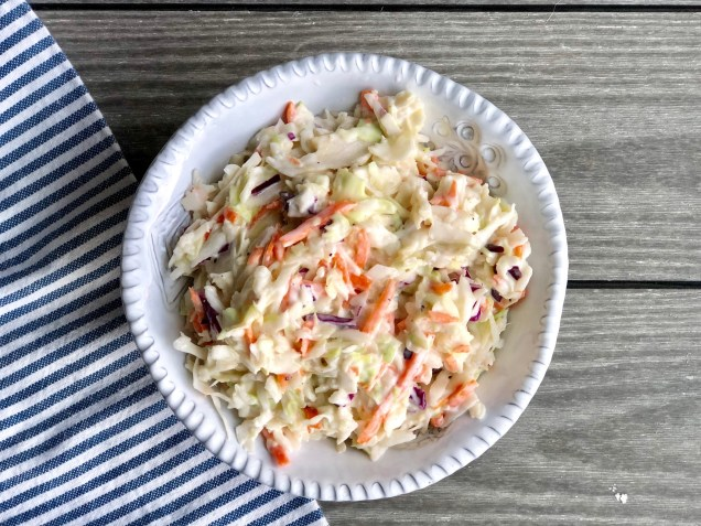 Homemade Cole Slaw in Bowl