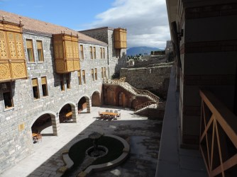 The view of the hotel courtyard from our room