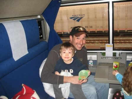 Nate and J on train