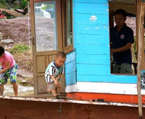 da Pakbeng si salpa di nuovo verso Luang Prabang