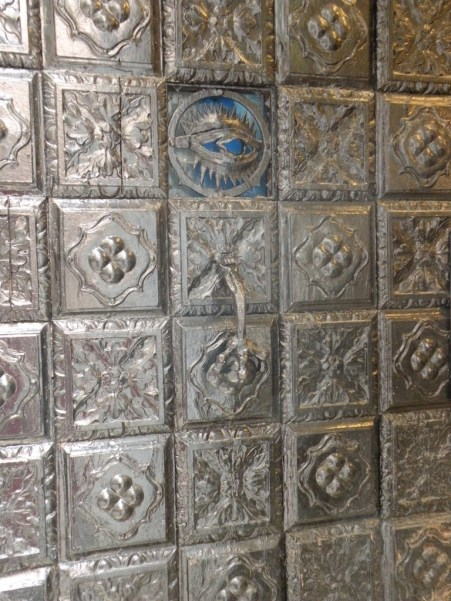 Silver door, fishmonger's shop, die Greci, Venice